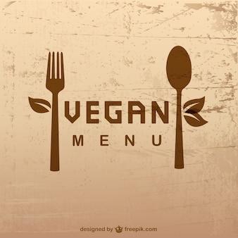 Vector menú vegano