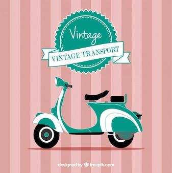 Vector motocicleta de la vendimia