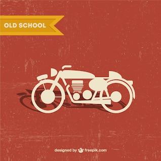 Vector motocicleta retro gratis