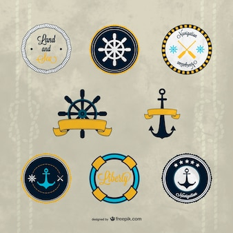 Vectores de insignias náuticas