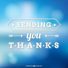 Vector nota de agradecimiento