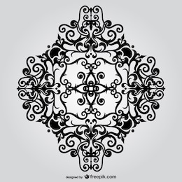 Vector ornamental floral
