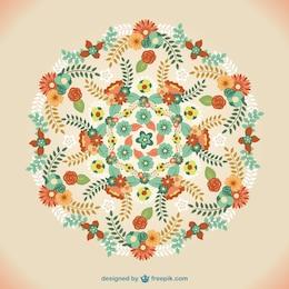Vector ornamento floral estilo mandala