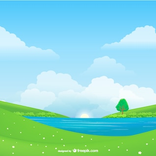 Vector paisaje natural