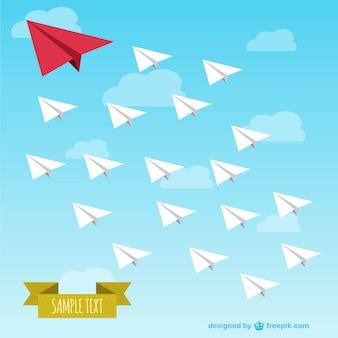 Vector de aviones de papel
