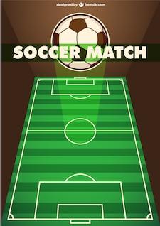 Vector partido de fútbol