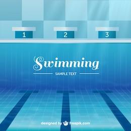 Vector piscina olímpica