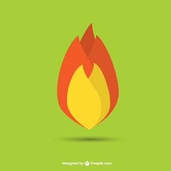 Vector plano de llama