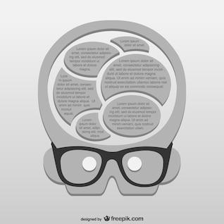 Vector plantilla de inteligencia