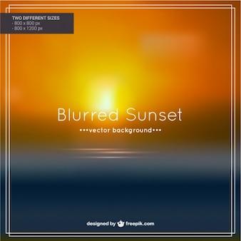 Vector puesta de sol borrosa