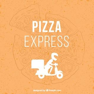 Vector repartidor de pizza
