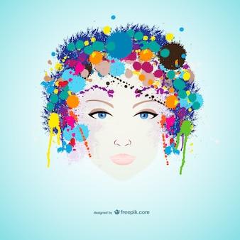 Vector retrato de mujer