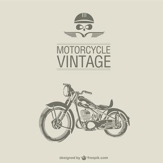 Vector retro de motocicleta