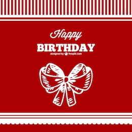 Vector rojo y blanco de cumpleaños