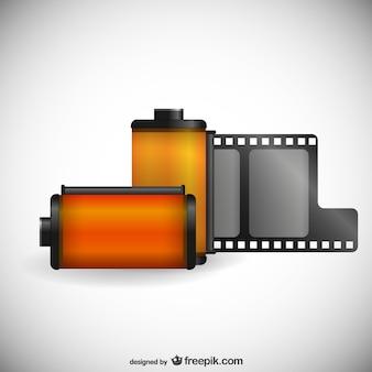 Vector rollo de película