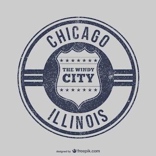 Vector sello de Chicago