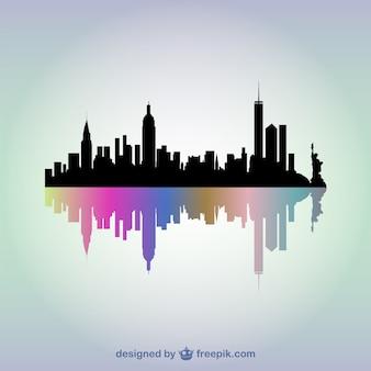 Vector silueta de edificios de Nueva York