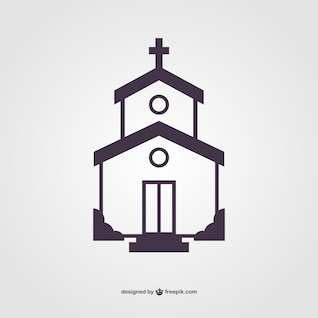 Vector silueta de iglesia
