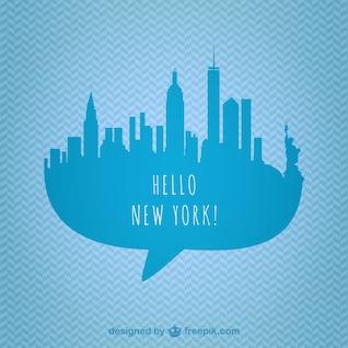 Vector silueta de Nueva York