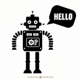 Vector silueta de robot
