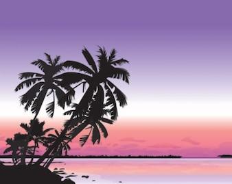 vector silueta del paisaje