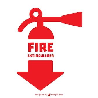 Vector símbolo de extintor