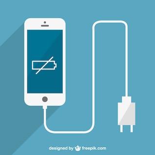 Vector smartphone con batería baja