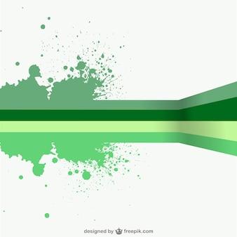 Plantilla con salpicaduras de pintura verde