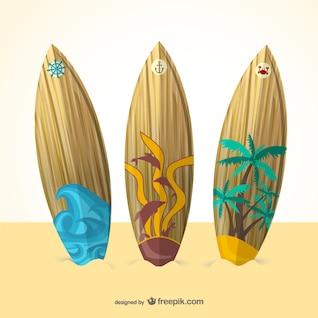 Vector tablas de surf