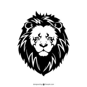Vector tatuaje de león