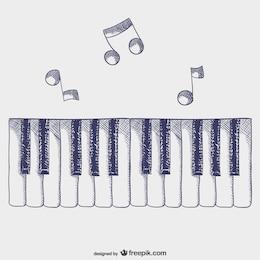 Vector teclas de piano