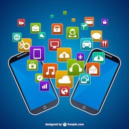 Vector teléfonos móviles