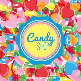 Vector tienda de caramelos