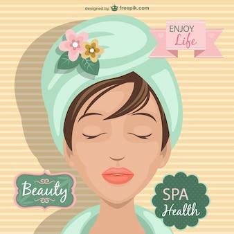 Vector tratamiento de spa