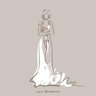 Vector vestido de boda