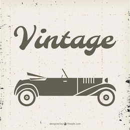 Vector vintage de coche descapotable