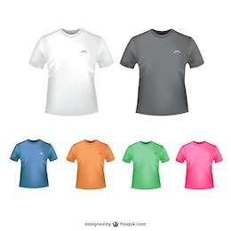 Vectores camisetas de colores