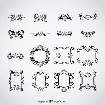 Vectores clásicos caligráficos