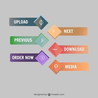 Vectores de botones web