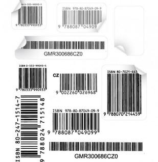 Vectores de código de barras auténticos
