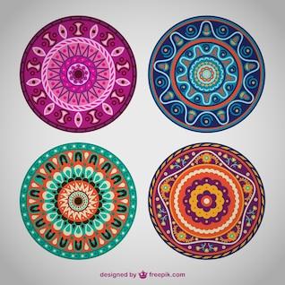 Vectores de colores estilo mandala