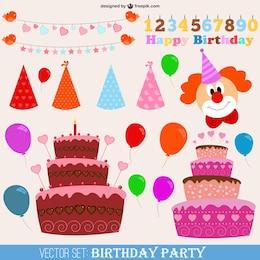 Vectores de fiesta de cumpleaños