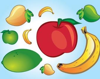 vectores de fruta fresca