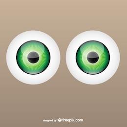 Vectores de globos oculares