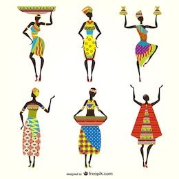 Vectores de mujeres africanas