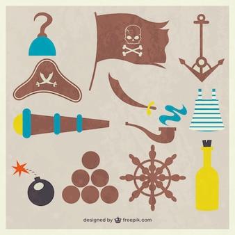 Vectores de piratas vintage