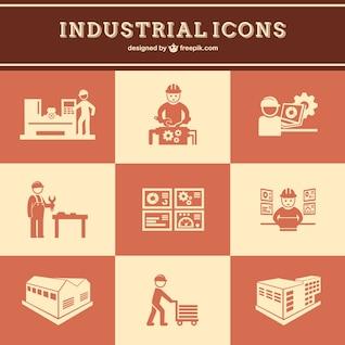 Vectores de trabajo industrial