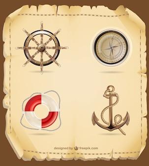 Vectores náuticos retro
