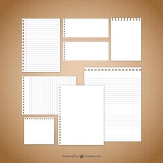 vectores nota de papel