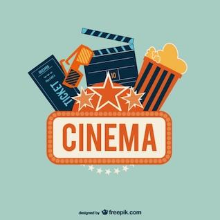 Vectores retro cine
